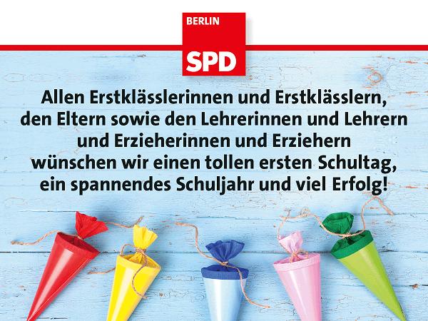 Glückwünsche Zur Einschulung Spd Tempelhof Schöneberg